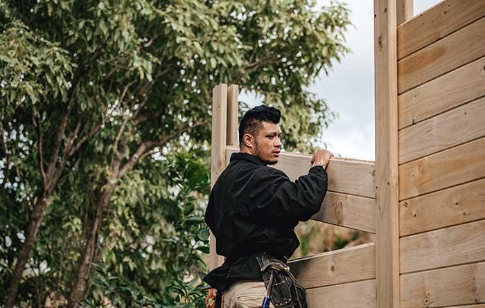 timber fence laminata